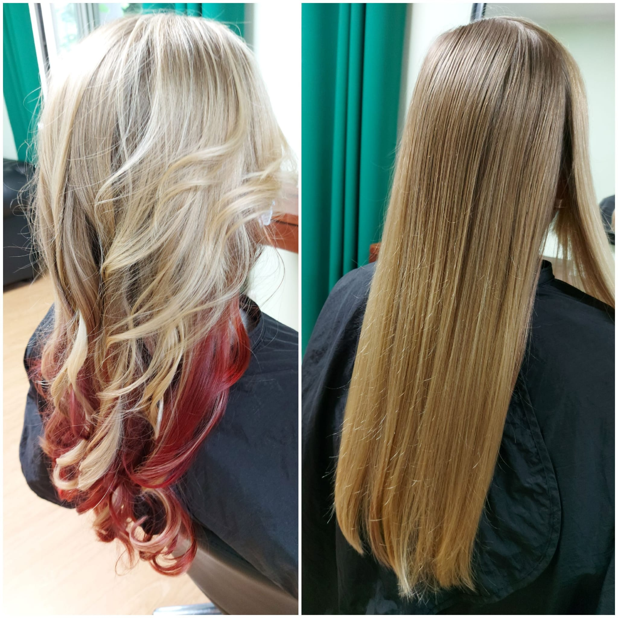 Balayage in red